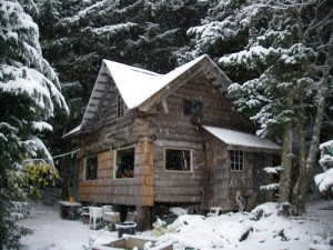 The winter's first snow on the homestead, 2009