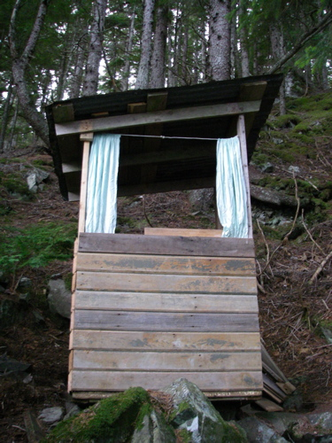 The rebuilt guest outhouse.