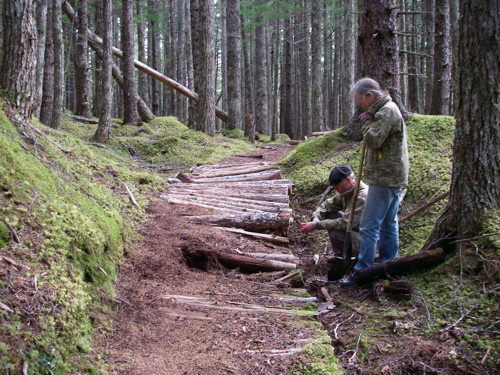 trail before improvements