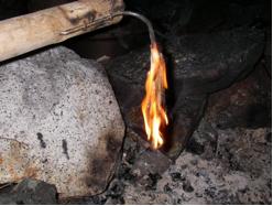 candle fish burning