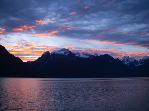 sunrise on LC Mountain