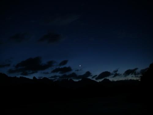 crescent venus above Alaska's Cascade Range