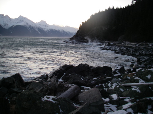 Winter Solstice 2010 south of Haines, Alaska
