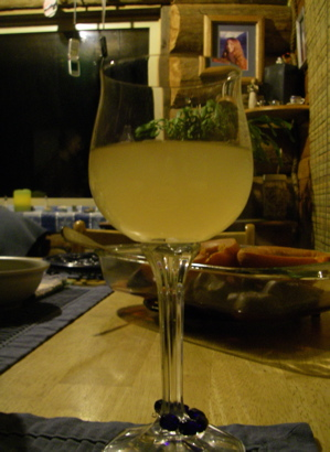 "a glass of ""raisin riesling"""