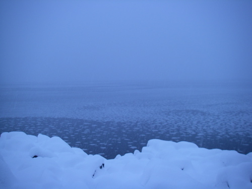 snow on Lynn Canal