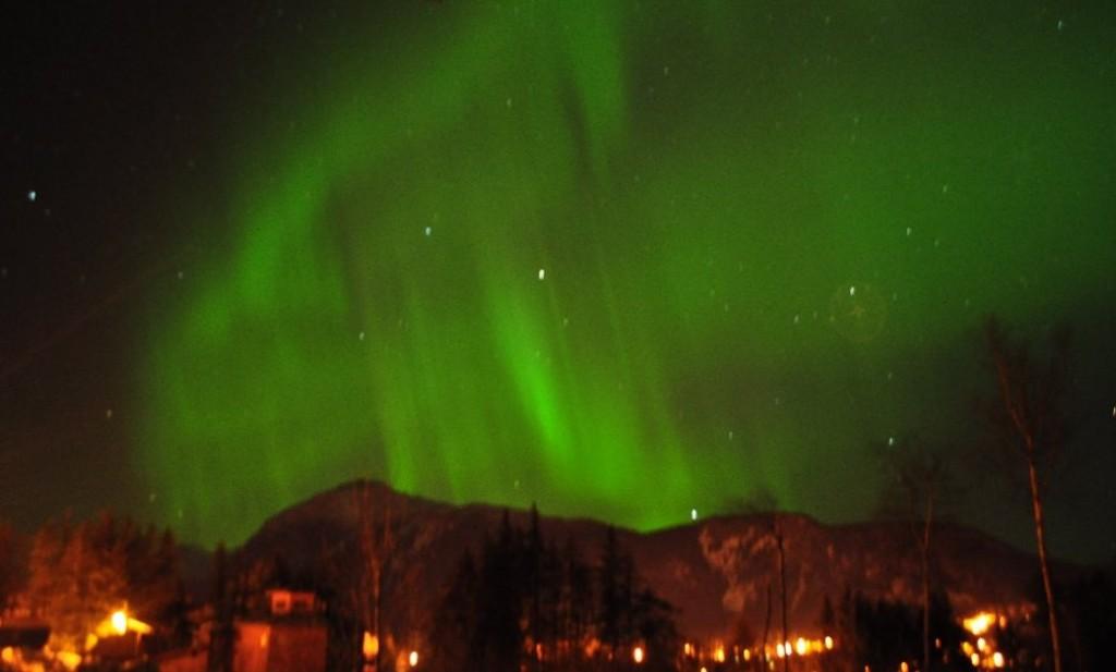 Aurora over Haines, Alaska March 2012