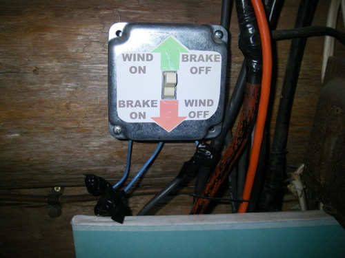 labeled brake switch