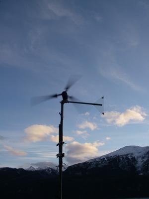 furled wind generator