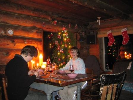A Zeiger family sit down dinner from Christmas 2006 (Photo: Mark Zeiger).