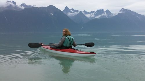 Aly kayaking in Lynn Canal (Photo: Mark A. Zeiger).