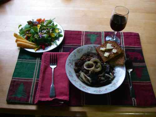 Porcupine bourguignon, a complete meal from the homestead (Photo: Michelle L. Zeiger).