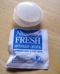 A Naturally Fresh brand deodorant crstal (Photo: Mark A. Zeiger).