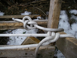 "The bowline (top) is called ""the king of knots"" but I owe my allegiance to the rolling hitch (bottom). (Photo: Mark Zeiger.)"