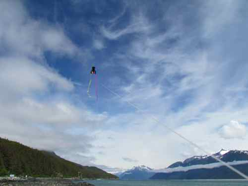 My pocket kite in action above Lynn Canal (Photo: Mark A. Zeiger).