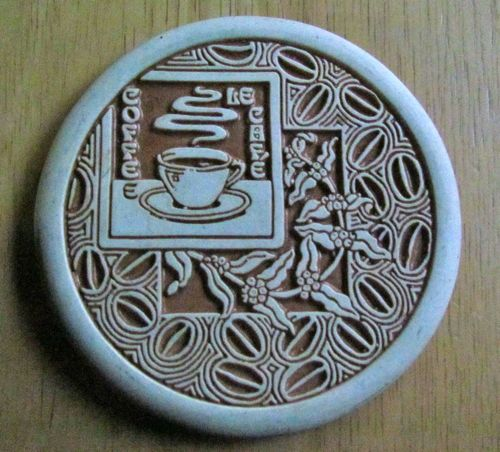 Just for some visual interest, my favorite coffee coaster (Photo: Mark A. Zeiger).