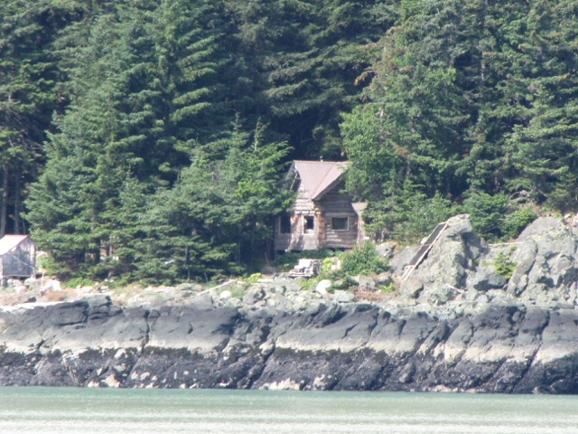 A new friend we met on board took this photo of the cabin as we passed on the homebound ferry earlier this month (Photo: Roger Bykowski).