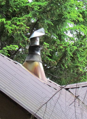 "The ""new"" chimney cap in place (Photo: Mark A. Zeiger)."