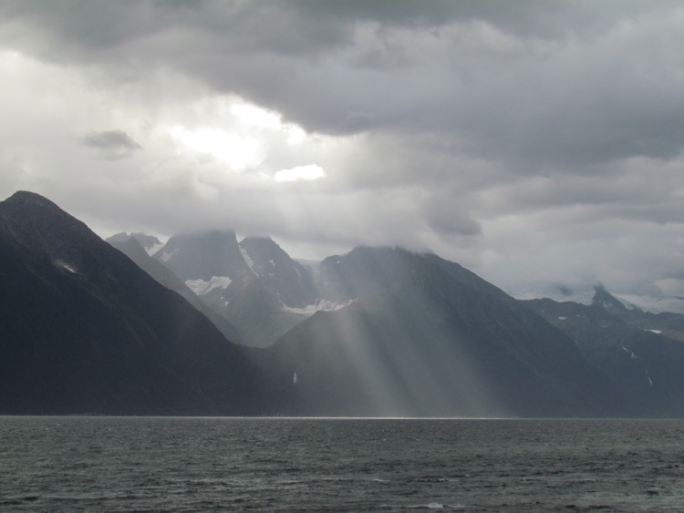 """Crepuscular rays, or, as we called them as kids, """"blessings"""" (Photo: Mark A. Zeiger)."""