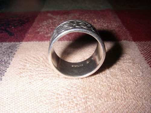 Mark's primary piece of silver jewelry. Note Sterling mark (Photo: Mark A. Zeiger).