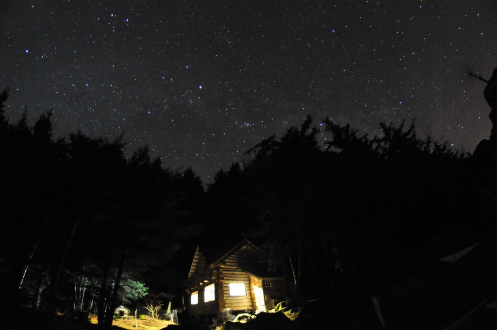 The Zeiger Homestead cabin, and the universe (Photo: Eli White).