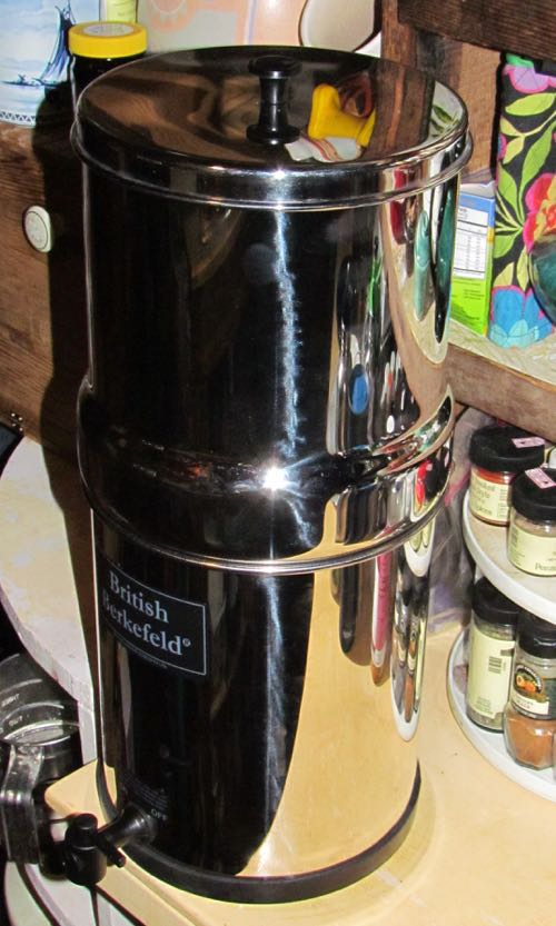 The new water filter (Photo: Mark A. Zeiger).