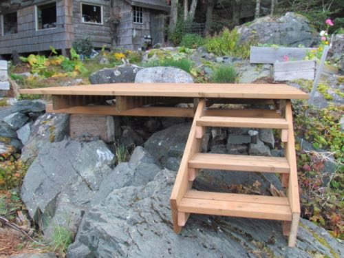 New stairs on the new deck (Photo: Mark A. Zeiger).