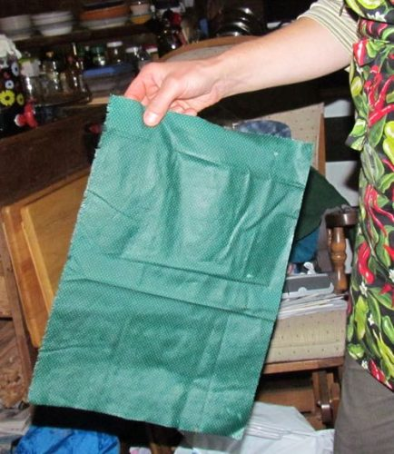 A completed beeswax food wrap, ready to use (Photo: Mark A. Zeiger).