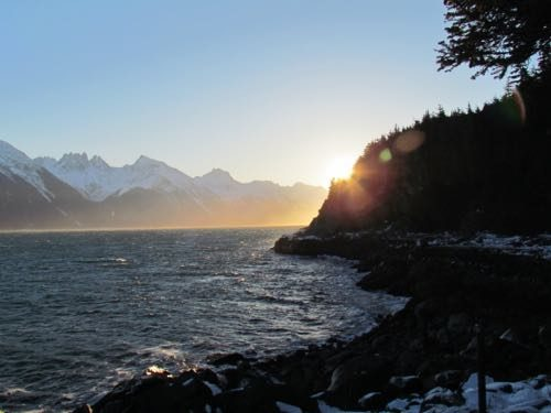 Close-to-Winter-Solstice sun (Photo: Mark A. Zeiger).