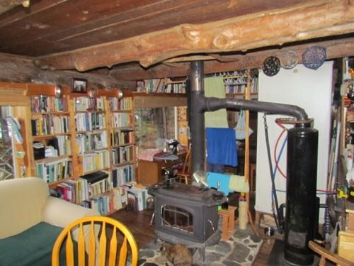 "The ""library,"" looking back toward the sewing ""room"" (Photo: Mark A. Zeiger)."