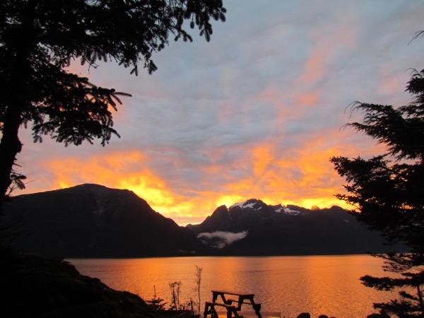 Sunrise near Haines, Alaska