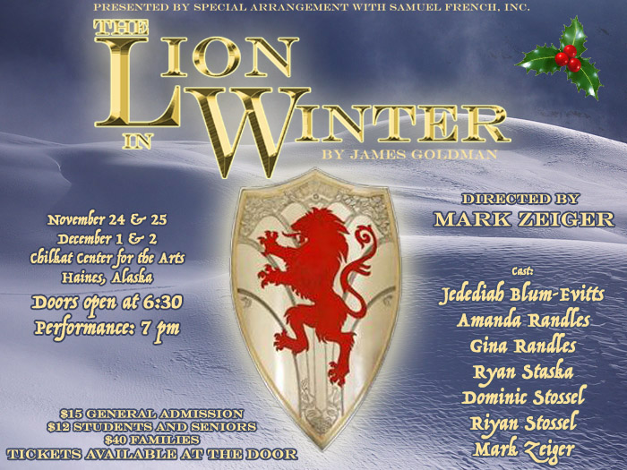 Lion in Winter poster, Haines Alaska