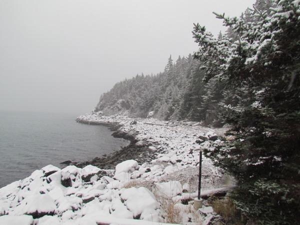 Mud Bay Peninsula in snow