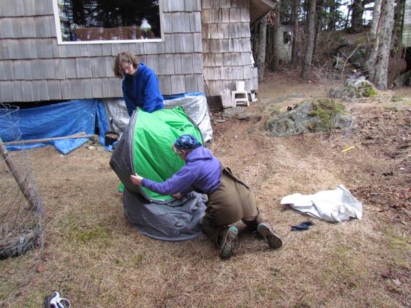 folding pop-up tent