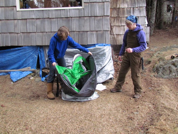 Pop-Up Tent popping up