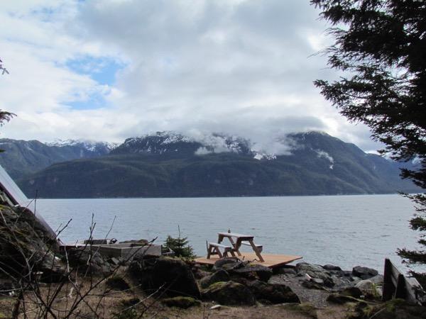 changin weather on Lynn Canal, Alaska