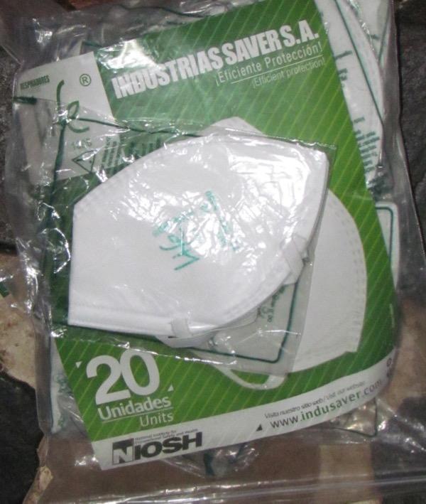 Folded N95 respirator