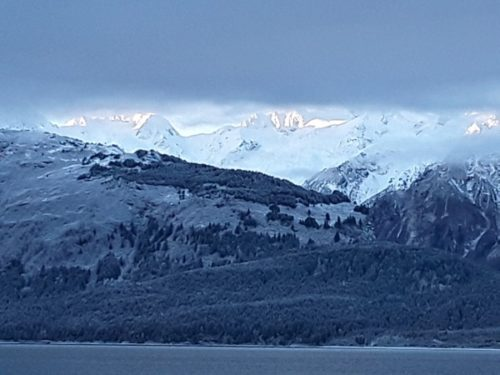 Snow on the Chilkat mountains