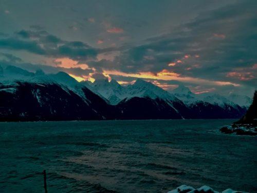 Sunrise over the Coast Range