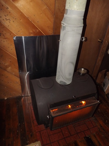 wood stove shielding