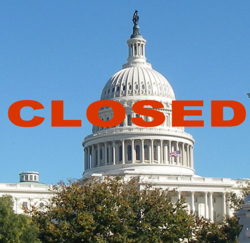 US capitol building, CLOSED