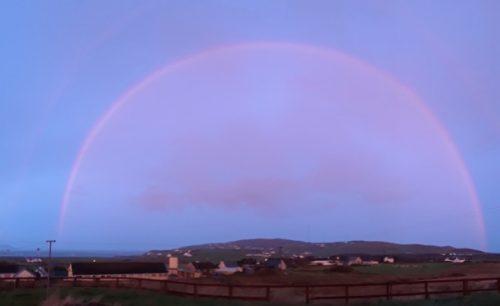 rainbow over Malin Head, Ireland