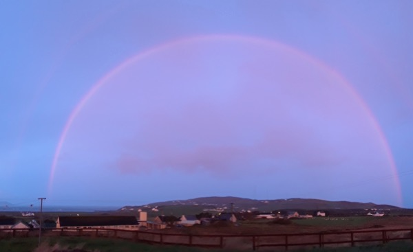 rainbow over Malin Head, Ireland