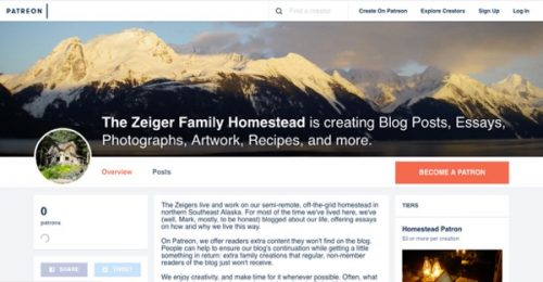 Zeiger Family Homestead Patreon Page