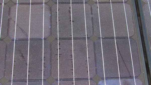 flaws in solar panel