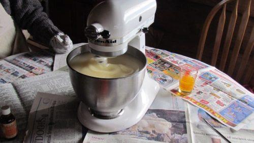 mixing soap