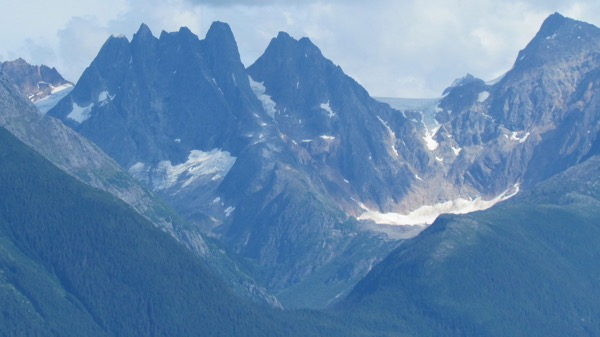 Close up of Alaska's Coast Range