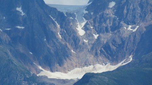 Close up of Alaska's Coast Range