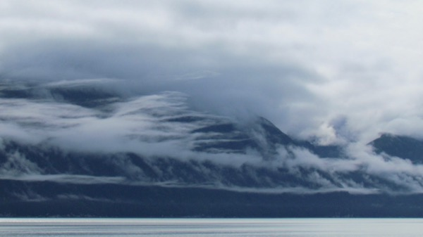 Coast Range in mist, Southeast Alaska