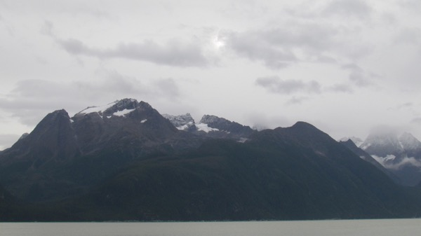 snow on the mountains, SE Alaska