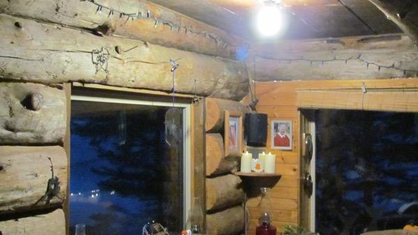 New LED lights in Zeiger family cabin